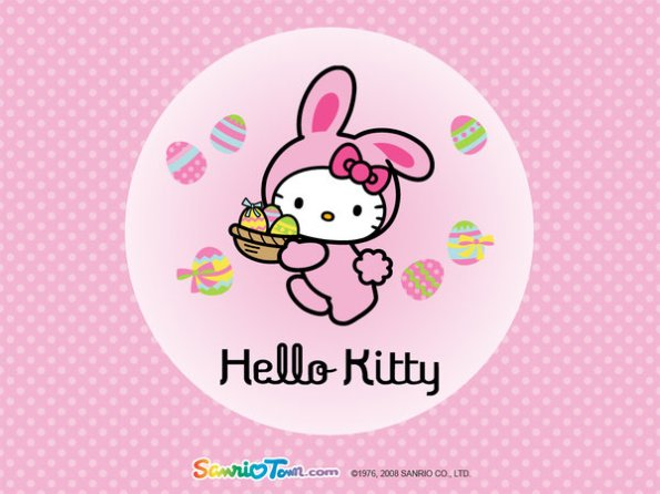 happy easter pink_